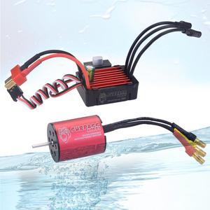 Image 2 - Surpasshobby kk 방수 콤보 2430 5800kv 6300kv 8200kv 브러시리스 모터 (25a esc 포함) 1:16 1:18 gtr/lexus rc 드리프트 레이싱 카