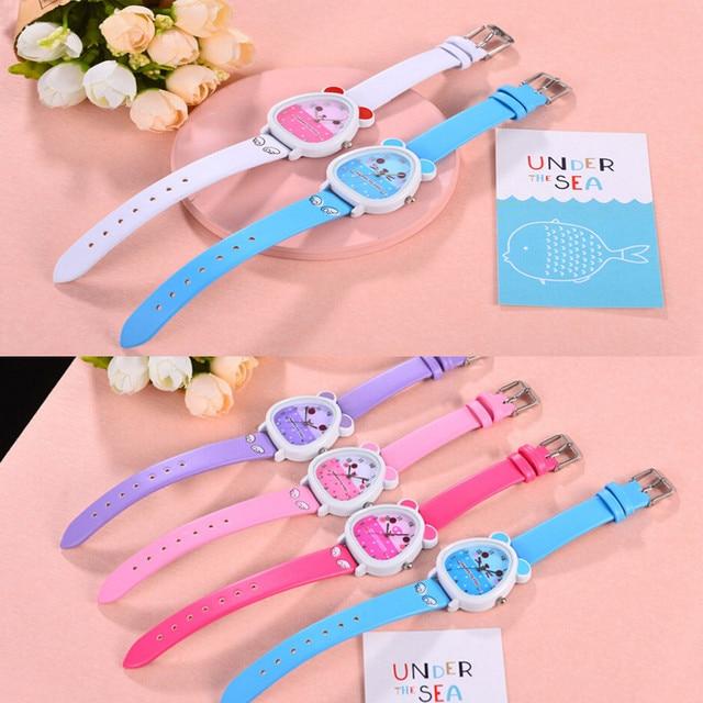 Free Shipping Lovely Animal Design Cartoon Quartz Watch Wristwatch Casual Wear R