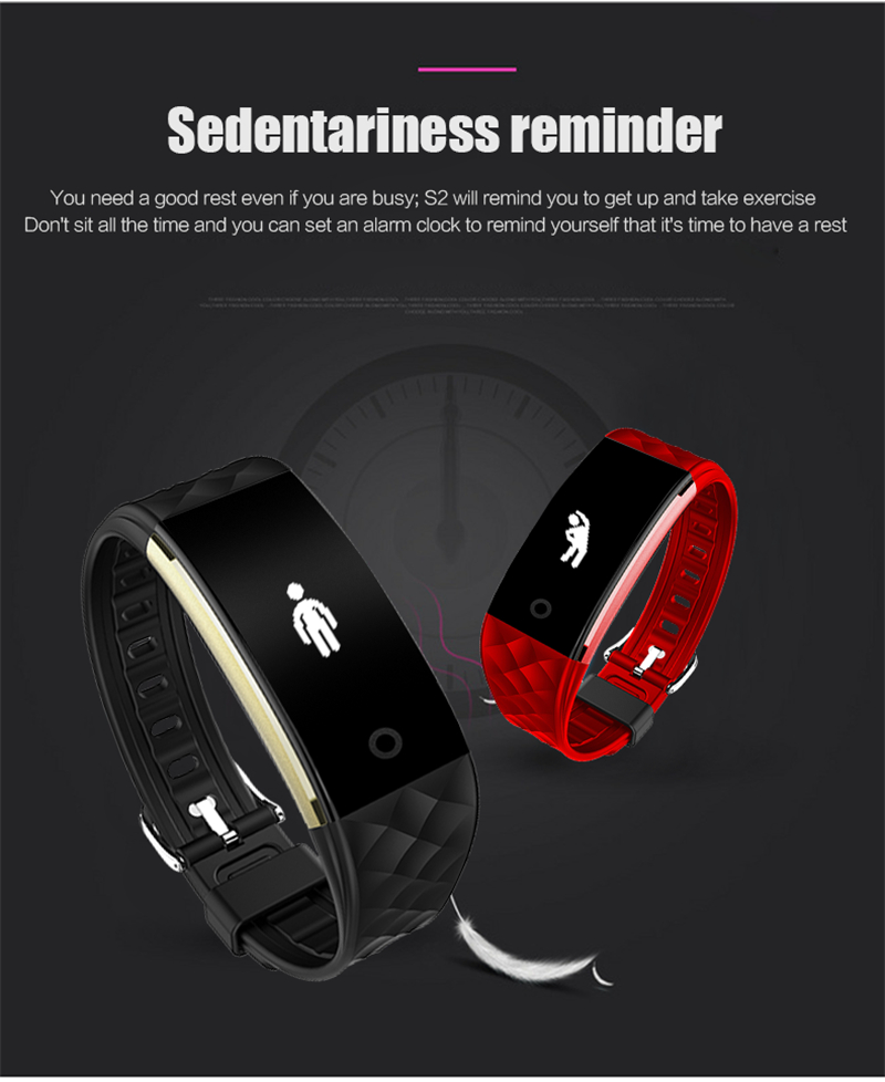 Waterproof Bluetooth Smart Band S2 Smart Wristband Bracelet Heart Rate Pedometer Sleep Fitness Tracker for Android IOS Phones 20