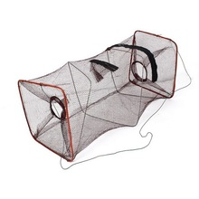 1pc High Quality Folding Nylon Fish Tank Brown Rectangle Shrimp Crawfish  Net 45cm Hot Sale
