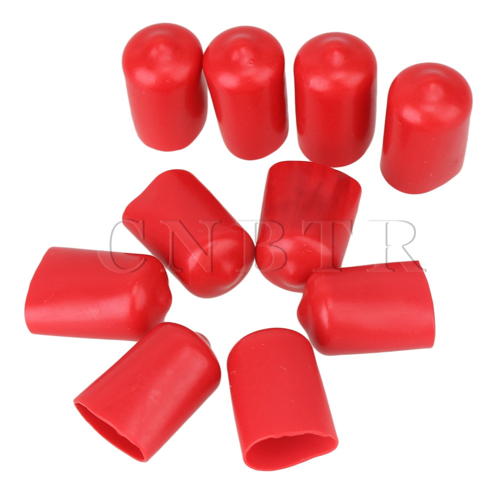 CNBTR  10pcs Soft Rubber Hose End Blanking Caps Screw Thread Protector Cover 14mm Red 6pcs lot soft thumb grips thumbstick joystick high enhancements cover caps skin fit for sony play station 4 ps4 ps3 xbox 360