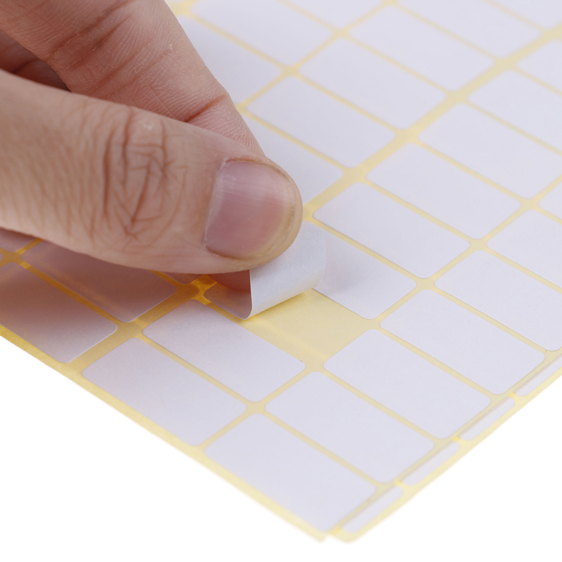 1680pcs A Lot 10*20mm Blank White Sticker Labels Small Paper Adhesive Label Stickers Writable Note Sticker Tag Crafts