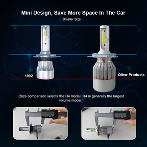 Image 2 - Car Headlight Bulbs H7 LED H1 Lamp H11 9005 9006 HB3 HB4 H4 Auto Light C6 LED Upgradation Super Bright 12000Lm 6000K 12V