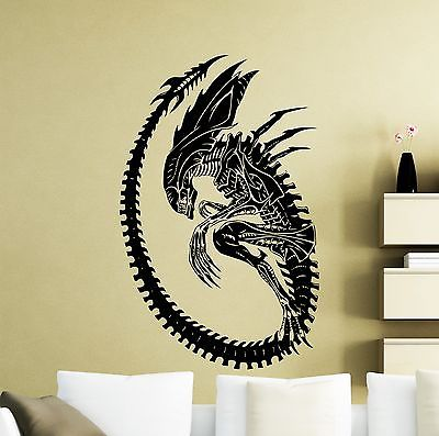 Alien Wall Decal Monster Alien Movie Vinyl Sticker Art Decor Home Mural Kids Rooms Decorations Living Room DIY Wallpaper E568 thumbnail