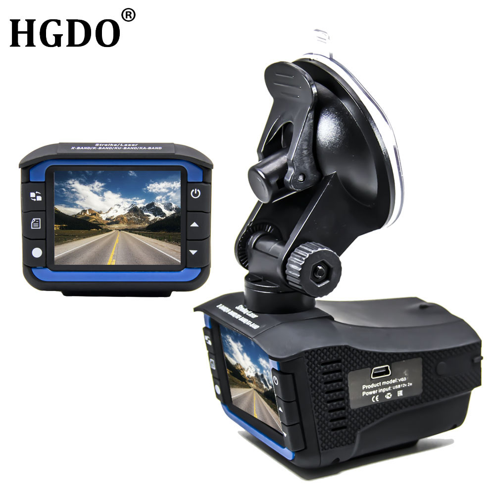 New 2 in 1 Car DVR Radar Detector Dash Cam Anti Radar Night Vision 2.7 Inch HD LCD Display 720P Russian English Voice Dashcam bn44 00199b good working tested bn44 00199b