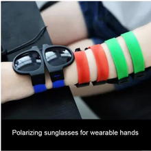 Модные мини складные поляризованные солнцезащитные очки для женщин и мужчин крутые модные уличные спортивные солнцезащитные очки UV400 браслет Oculos s201