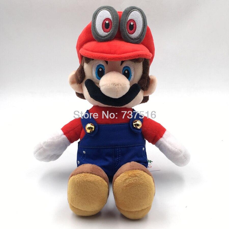 New Little Buddy Super Mario Odyssey Mario Big Eyes Black Beard Red Cappy Hat Plush Doll Children Toys Gift 8 Inch Stuffed Plush Animals Aliexpress
