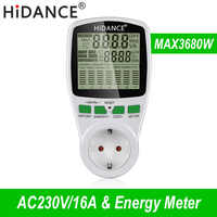 HiDANCE AC Power Meter 220v digitale wattmeter eu energy meter watt monitor strom kosten diagramm Messung buchse analysator