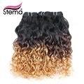 Stema ombre pelo de la onda de agua virginal del pelo 1b #8 ombre extensión brasileña del pelo humano 4 unids/lote ombre pelo extensiones