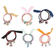 1 Set=3 PCS Elastic Hair Bands For Women Hair Accessories Hair Scrunchie Muiti-Color Scrunchy Lovely Pendant Girls Hair Ring(China)