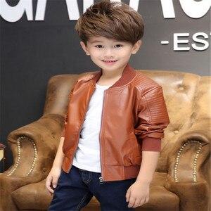 Image 4 - Kleidung für Kinder Neue Baby Casual Faux Leder warme Jacke Kinder Outwear Für Baby Mädchen und Jungen Jacke Baby Mode jacke