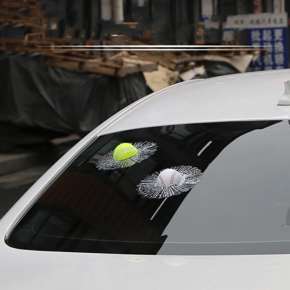 Aliauto Funny 3D Avtomobil Stiker Futbol Basketbol Tennis Basketbol Volkswagen Golf Polo Opel Kia Ford Focus Toyota Üçün Pəncərə vurdu
