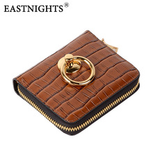 Купить с кэшбэком EASTNIGHTS 2017 New Women Wallets Split Leather Women Purse With Coin Pocket Card Holder Wallet Chain Bag TW2646
