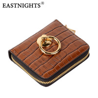 EASTNIGHTS 2019 New Women Wallets Split Leather Women Purse With Coin Pocket Card Holder Wallet Chain Bag TW2646