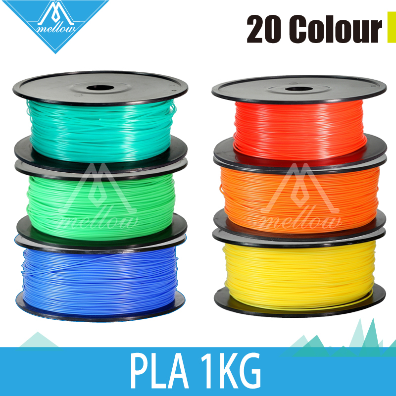 Free shipping 1kg/roll 20 colour 3d printer filaments PLA 1.75mm/3mm Rubber Consumables Material MakerBot/RepRap/UP/Mendel 3d printer material pla filaments consumables 3mm 1kg plastic cable