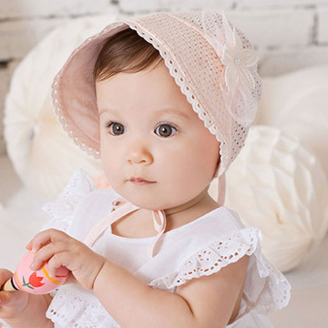 f4b6eeef2 US $3.04 31% OFF Aliexpress.com : Buy Fashion Baby Cap Solid Color Hollow  Braid Hat Infant Newborn Kids Hats Lace Caps Children Bonnet Summer 998  from ...