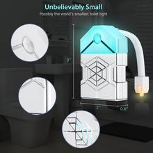цена на Motion Sensor LED Lamp Human Activated Backlight For Toilet Bowl Bathroom Night Light UV Sterilization LED Toilet Light 16 Color