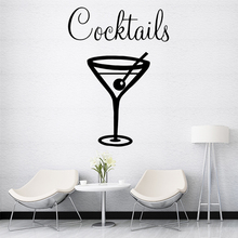 Diy cocktails Home Decorations Pvc Decal Decor For Kitchen Room Removable Mural Custom Wall Stickers adesivo de parede стоимость