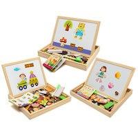 New Arrival Rysunek Pokładzie Pisania Magnetyczne Puzzle Pokładzie Pokój Dzieciak Sztalugi Drewniane Zabawki na Prezenty Dla Dzieci Intelligence Development Toy