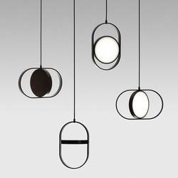 Nowoczesna lampa wisząca LED vertigo La zawieszenie E27 Constance Guisset est un oprawa do jadalni restauracja lampe luster w Wiszące lampki od Lampy i oświetlenie na