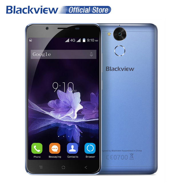 Blackview P2 4G Smartphone 5.5 Inch FHD MTK6750T Octa Core Android 6.0 4GB+64GB 13MP 6000mAh Battery Fingerprint ID Cellphone