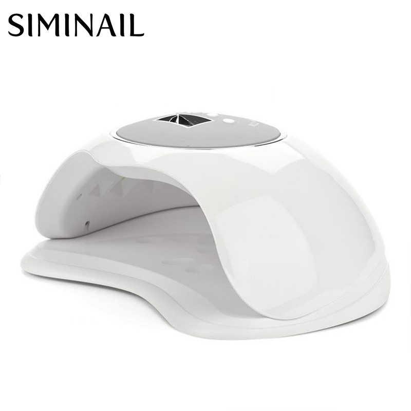 SIMINAIL светодиодная УФ-лампа для ногтей 72 Вт Высокая мощность быстрое отверждение большой размер пространства для сушки 2 руки ноги Даул светильник 365nm 405nm 72 Вт