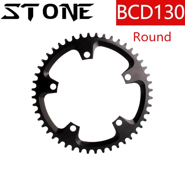 Stone chainring 130 BCD Round Chainwheel 40t 42 44 46 48 50 52 56 60T tooth Aero MTB Bike Cycling Bicycle Tooth Plate 130bcdStone chainring 130 BCD Round Chainwheel 40t 42 44 46 48 50 52 56 60T tooth Aero MTB Bike Cycling Bicycle Tooth Plate 130bcd
