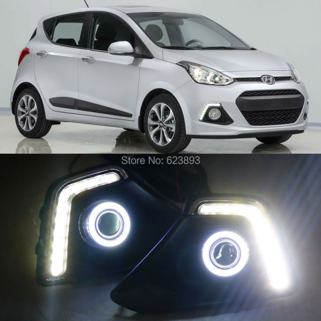 fendinebbia angel eyes  Trasporto libero, 2x Luci Diurne A LED DRL fendinebbia + COB Angel ...