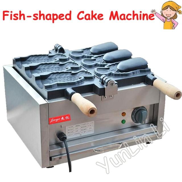 Ice Cream Taiyaki Maker Fish Shaped Cake Machine Electric Waffle Maker 220V Japanses Open Pouth Taiyaki Machine FY-1103B