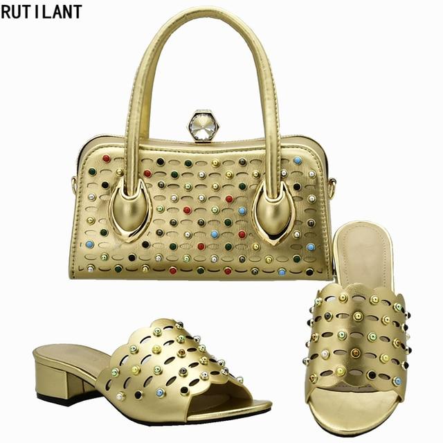 84125eced3 Neue Ankunft Italienische Schuhe mit Passender Tasche für Frau Italienische  Schuhe und Tasche Set Hohe Qualität