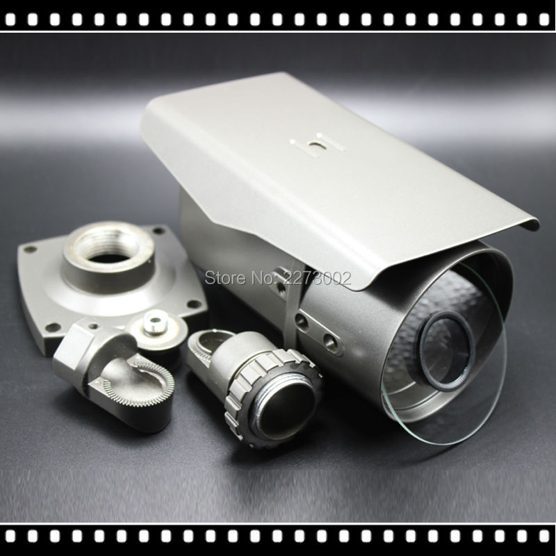 Surveillance accessory cctv camera housing for 72IR LEDs Vandalproof IR Bullet AHD IP Camera Varifocal 2.8-12mm Lens