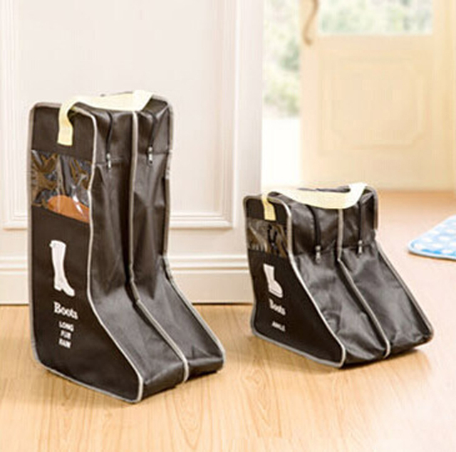 Superior Portable Big Shoes Storage Bags Hanging Closet Cabin Shoe Cover Boots  Organizer Sack Storaging Bag With