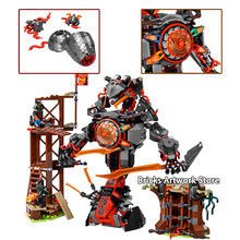 Fit Ninjagoes 70626 Dawn of Iron Doom Mech Set Mini Figures Zane Floyd WU JAY Kai DIY Building Blocks Toys for Children Gifts(China)