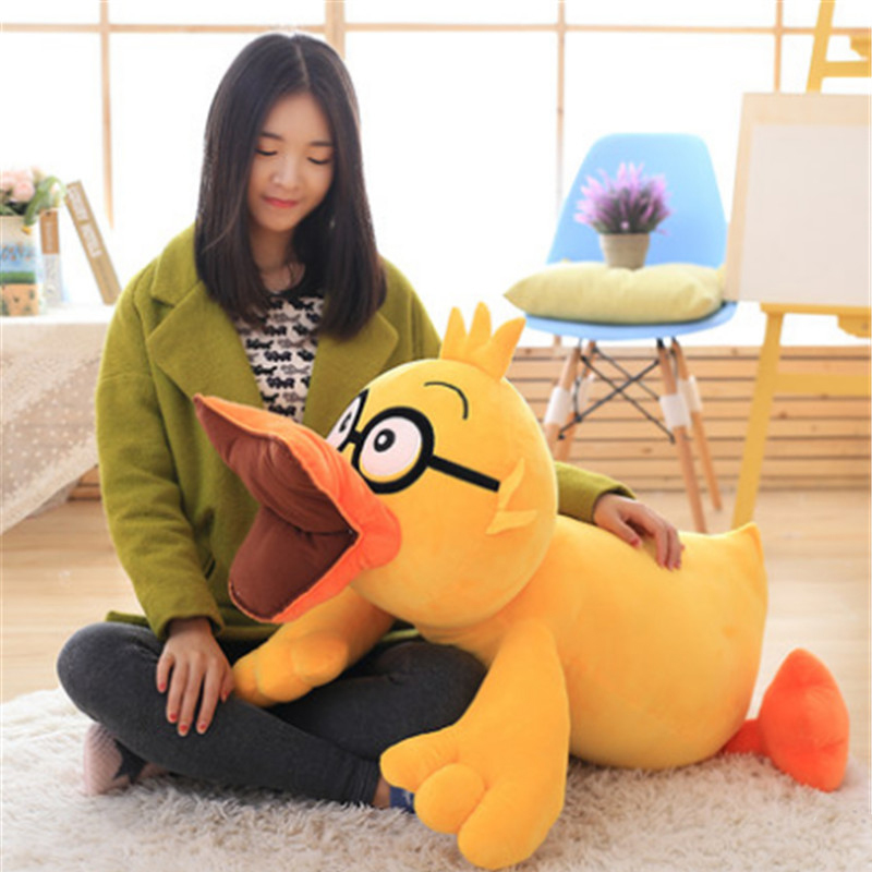 Fancytrader Big Anime Plush Duck Toys Huge Soft Stuffed Lovely Duck Animals Pillow Doll 80cm 31inch Gifts for Children big plush yellow duck toy lovely new big yellow duck doll pillow birthday gift about 85cm