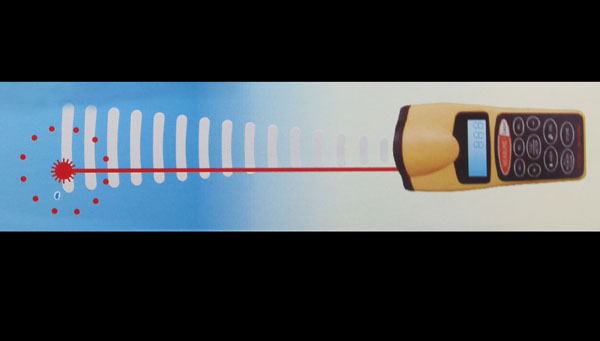 Ultraschall Entfernungsmesser Genauigkeit : Ultraschall roulette entfernungsmesser mit laserpointer