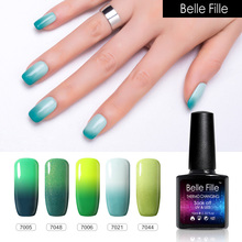 BELLE FILLE Changing color Thermo Temperature Gel nail polish 10ml UV Varnish Lacquer Home Manicure soak off fingernail polish