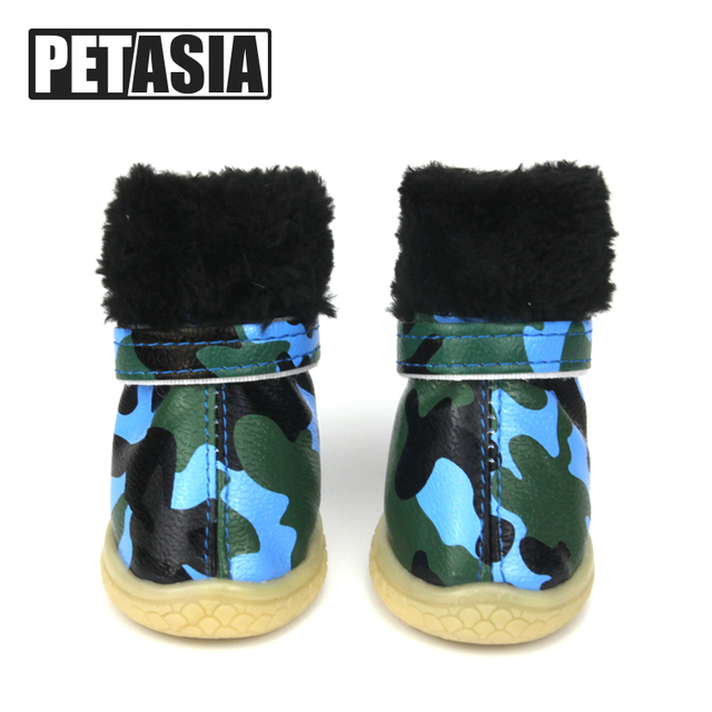 c1e63f0bb3 Super Warm Pet Dog Shoes Winter Dogs Boots Waterproof 4pcs set Cotton  Anti-Slip for ChiHuaHua Small Large Big Dog XS-XL PETASIA