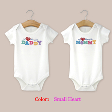 Letters I love Mom I love Dad 2pcs/lot Unisex Baby Rompers Infant Girl&Boys Organic Cotton Soft Kids Gift Jumpsuit For Toldders