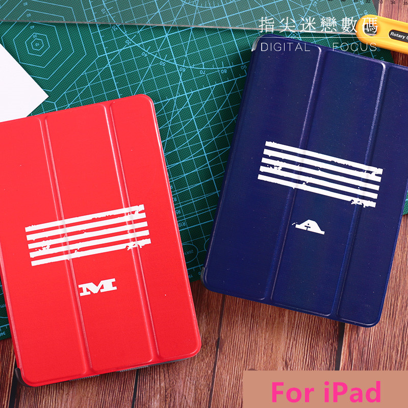 Fashion Simple Letter Flip Cover For iPad Pro 9.7 Air Air2 Mini 1 2 3 4 Tablet Case Protective Shell For Lovers Cover