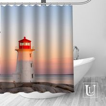 Waterproof Bathroom Curtains Modern Lighthouse Shower Curtain Polyester Bath Screens Customized CurtainChina