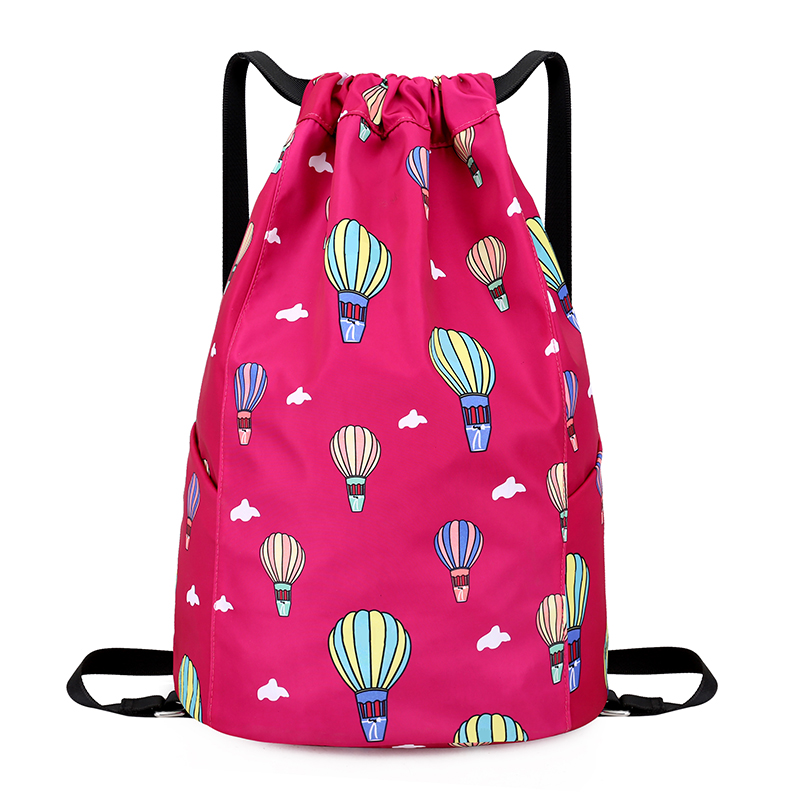 2018 Fashion polyester Drawstring Bag Outdoor sports rope bag Women Travel Storage Package Teenagers backpack sacos