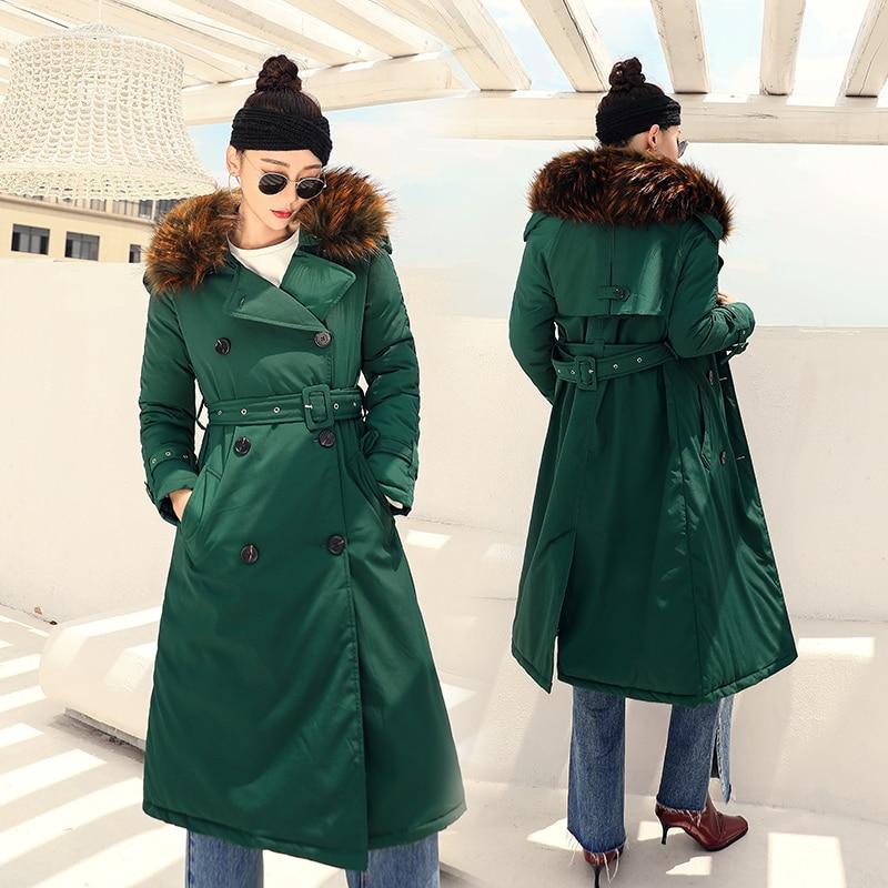 Soild angleterre X Lâche Col Grand Femmes Style Double Veste En Femelle long Manteau Nouvelle Hiver Vêtements Laine Parka Boutonnage xX1xq65