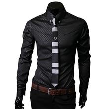Men's shirt Camisas Hombre Vestir Dress