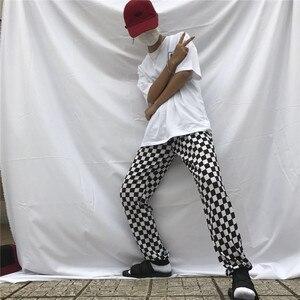 Image 4 - Корейские черно белые шорты с узором «шахматная доска», Новинка лета 2019