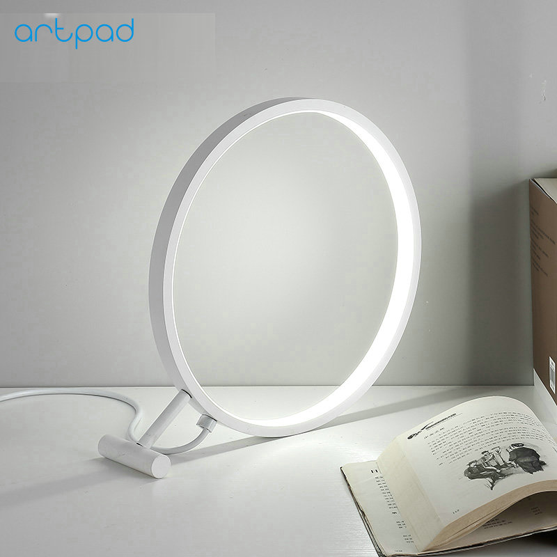 Artpad Desige Deco White Magnifier Shaped 18W Led Desk Lamp 220V Bedroom Beside Studying Room Coffee Shop Bar Night Table Lights rax camping