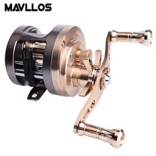 Mavllos Metal Round Baitcasting Reel Left Right Hand High Ratio 7.0:1 / 6.0:1 Saltwater Bait Cast Drum Fishing Reel Lure Fishing