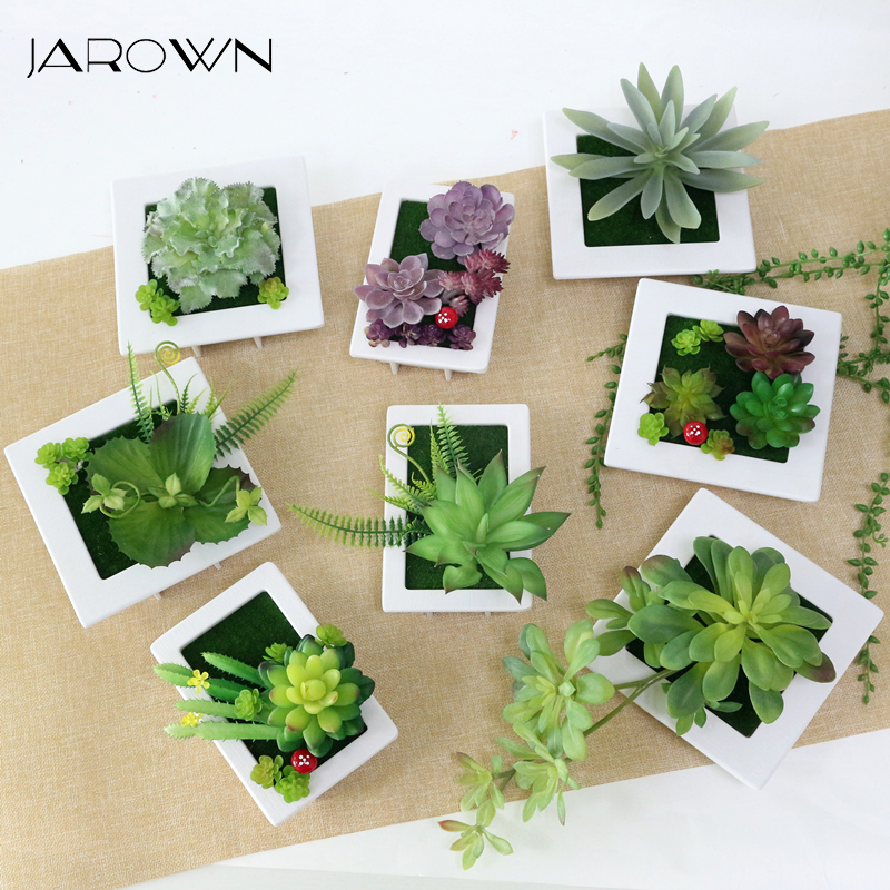 jarown artificial succulent plants diy small picture frame