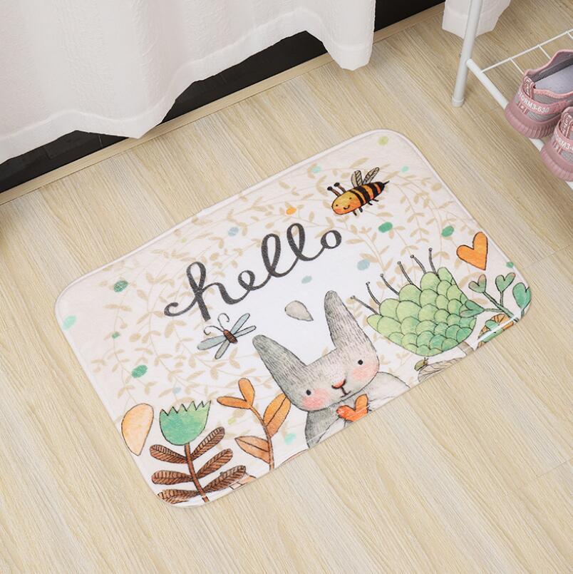 Image 5 - 40*60cm Multi Purpose Nordic Style Carpet Mattress Kitchen Bedroom Bathroom Door Absorbent Anti Skid Toilet Mat Bath Mats PVC-in Bath Mats from Home & Garden