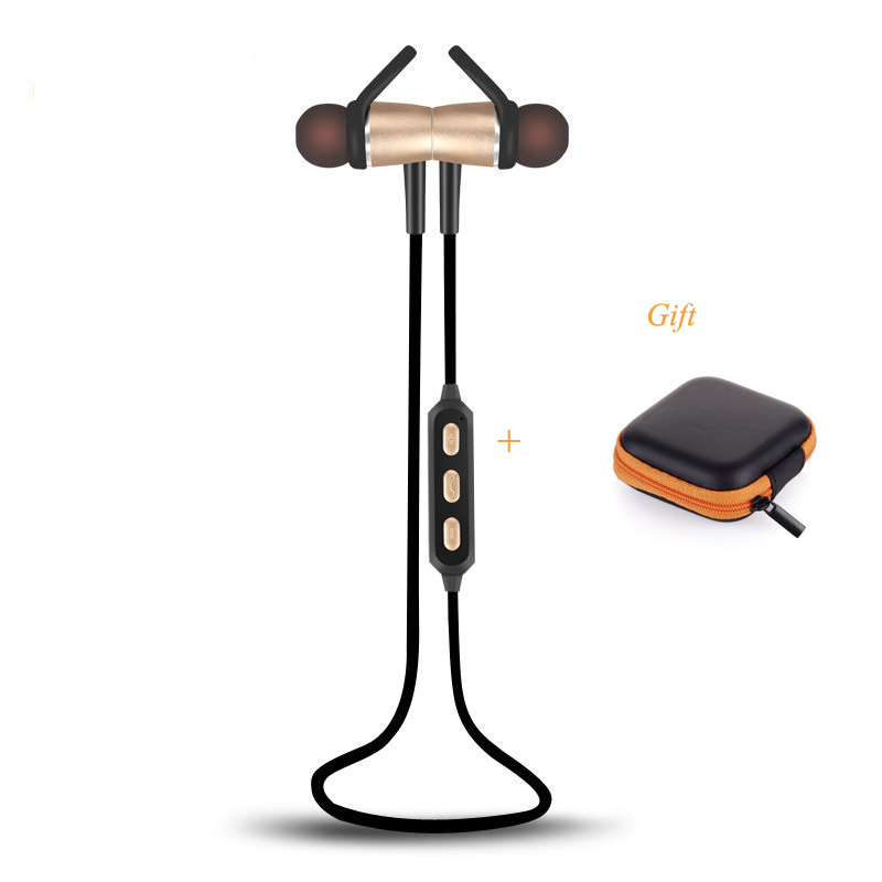 Sweatproof Wireless Sport Bluetooth Earphone 4.1 Magnetic Design Stereo Bass Headphones with Mic Noise Reduction for Smart Phone 2017 scomas i7 mini bluetooth earbud wireless invisible headphones headset with mic stereo bluetooth earphone for iphone android