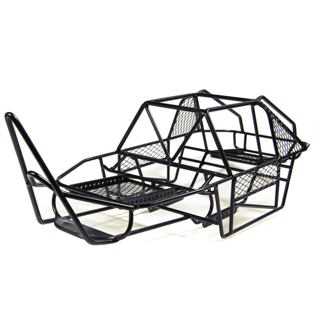 Black 110 Scale Rc Rock Car Xtra Speed V Steel Roll Cage Frame Body